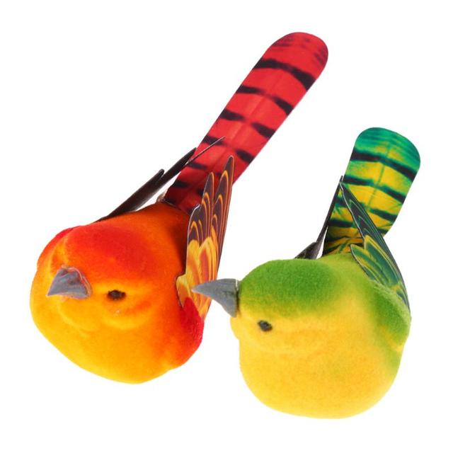 2pcs/Pack Cute Artificial Bird Home Table Garden Decoration Ornament Gift for Friend Cute Mini Foam Feather Bird Sparrow Tit 3