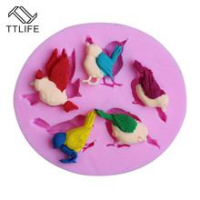 TTLIFE Pigeon Birds Silicone Mold Sparrow Fondant Cake Sugarcraft Decorating DIY Tools Sugar Craft Pastry Chocolate Baking Mould
