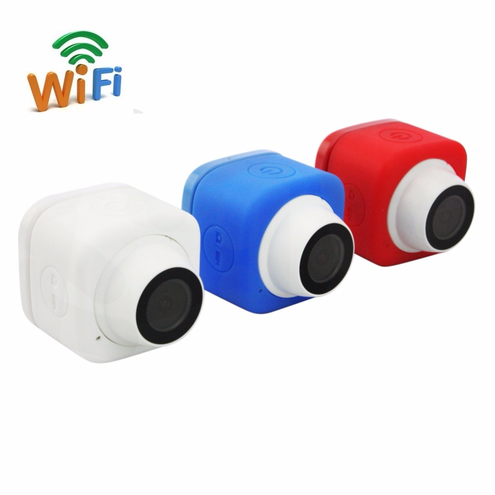 Blue/Red/White 720P HD TF Card record Wide Angle  Micro Mini Cude WIFI Camera with usb cable for  IOS Android smart phoneBlue/Red/White 720P HD TF Card record Wide Angle  Micro Mini Cude WIFI Camera with usb cable for  IOS Android smart phone