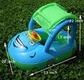 Ajustável Válvula de Segurança Do Assento Do Bebê PVC Inflável Float Tubo Barco Piscina Aid Anel sombra de Sol Do Carro Volante Chifre