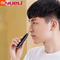 Original Xiaomi Yueli Electronic Nose Ear Hair Trimmer Safe 360 Degree Floating Blades for Men Women,Detachable Dual Edge Blades Smart Remote Control