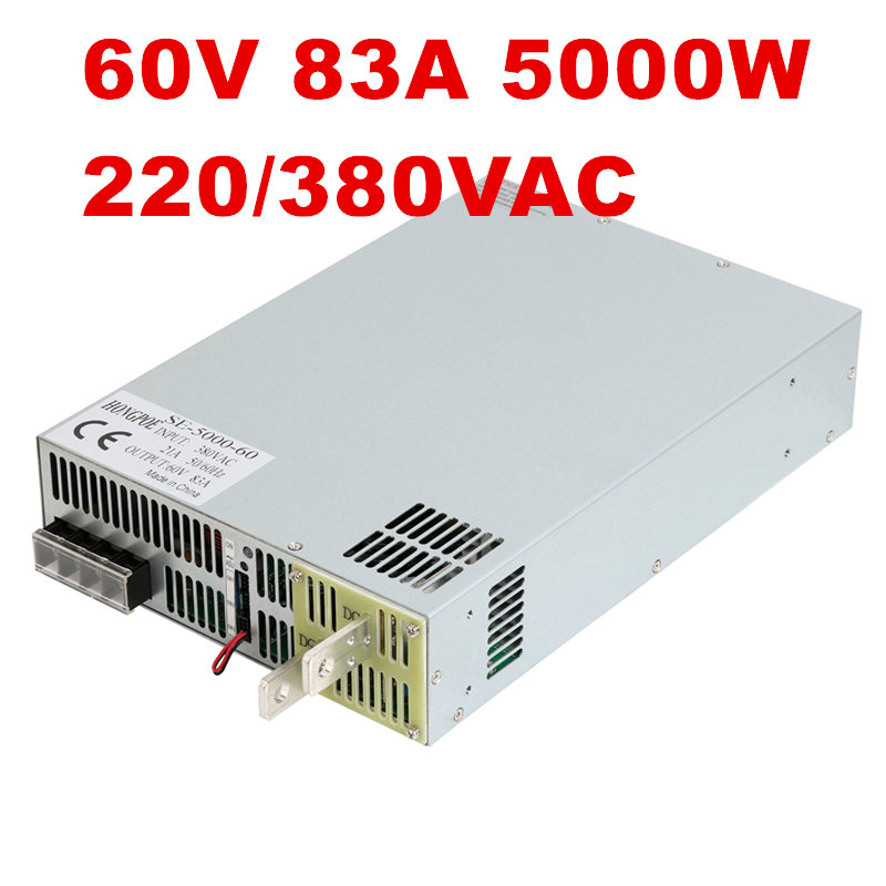 220/380VAC 5000W 60V 83A DC6-60V power supply 60V 83A AC-DC High-Power PSU 0-5V analog signal control DC60V Power
