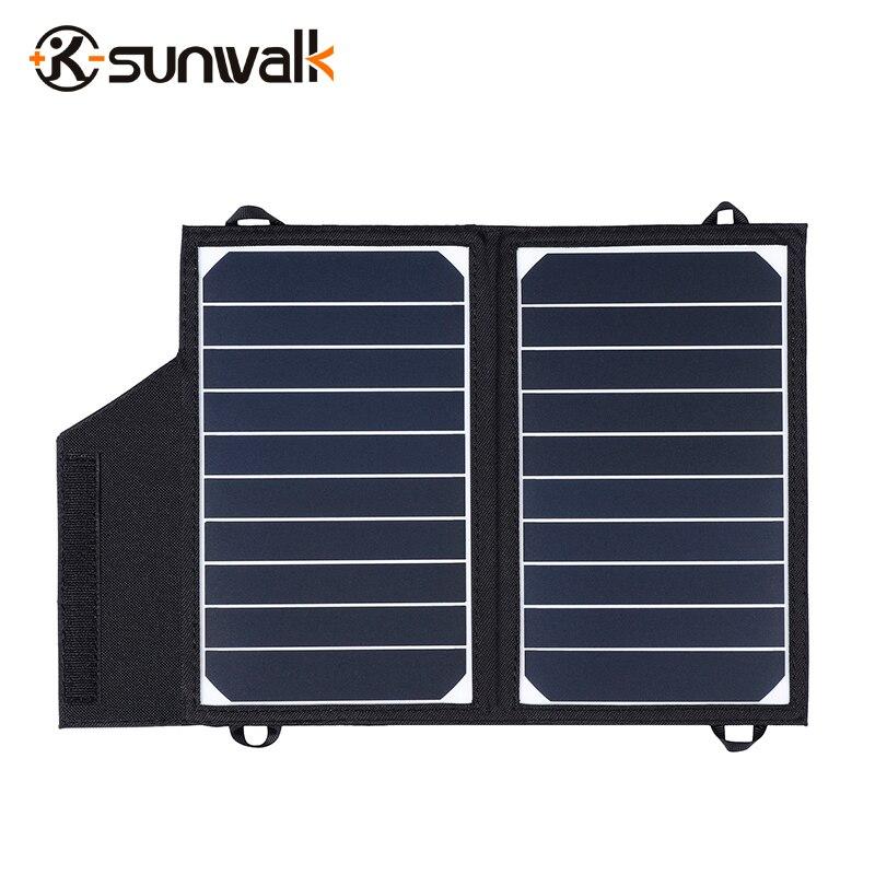 SUNWALK ELEGEEK Portable 10 W 5 V chargeur de panneau solaire avec support SUNPOWER panneau solaire 5 V chargeur de batterie pour 5 V batterie externe Mobile