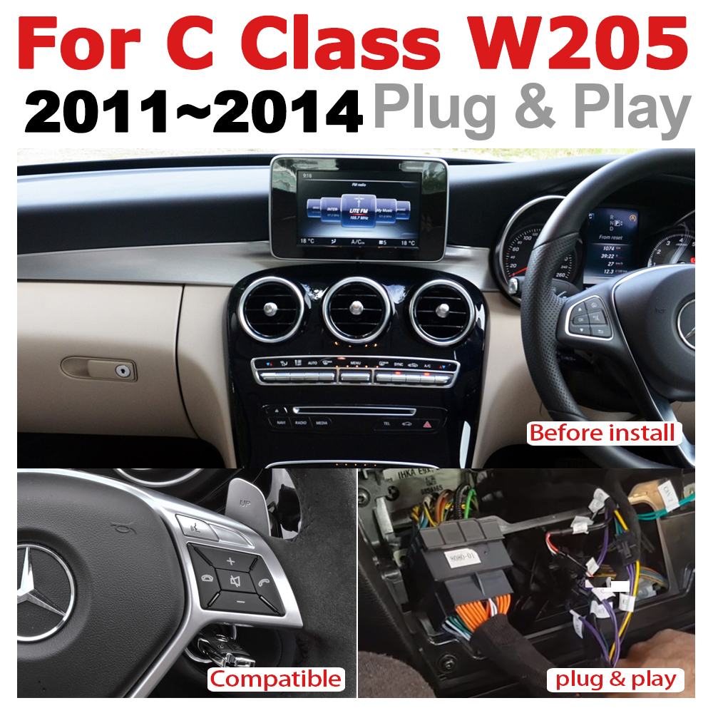 Car Radio GPS Android Navigation For Mercedes Benz C Class