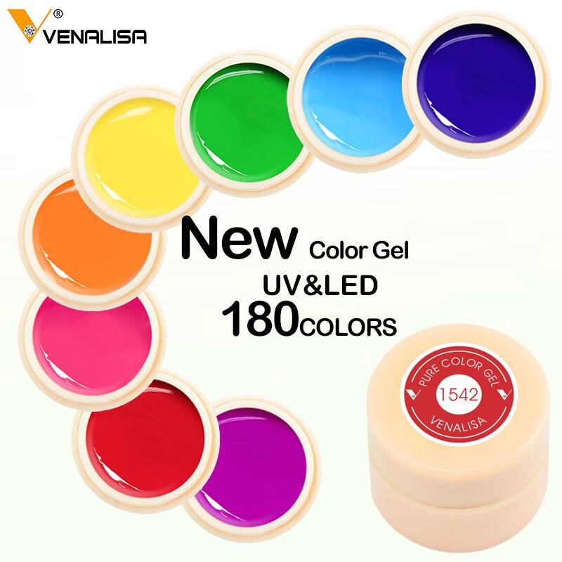 Venalisa цветной гель Краски УФ гель Nail замочить от ногтей led Лак для ногтей 180 цветов блеск ногтей Радуга Краски ing гель