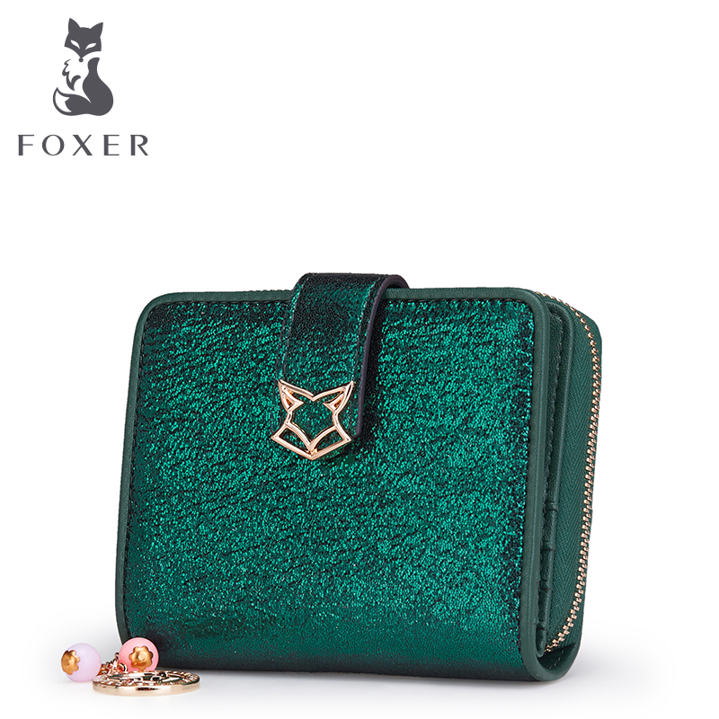 FOXER Brand Women Leather Wallets Short Style Wallet Luxury Female Purse Girl Card holder & Wallets Valentines Day gift ...