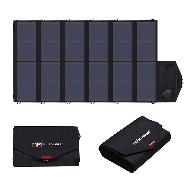 ALLPOWERS High Efficiency Solar Charger System 5V 12V 19V Charging for Mobile Phones/Tablets/Laptops/12V Car Battery/Speaker etc uv sterilizer for clothes computers mobile phones etc