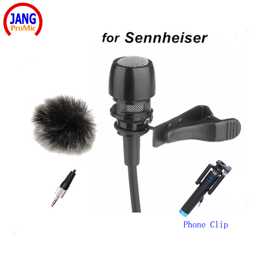 Professional Black Lapel Condenser Microphone Lavalier Microfone for Sennheiser Wireless Transmitter TRS 3.5mm Screw Jack