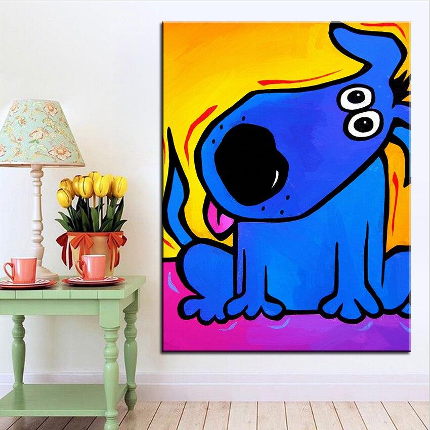 Velkoformátový tisk Olejomalba naslouchání Nástěnná malba POP Art Nástěnná malba Obrázek pro malování v obývacím pokoji Bez rámečku