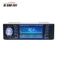 2017 4.1 inch MP5 Radio Player HD Car Bluetooth 1 DIN Car In Dash Stereo Audio FM Receiver USB With USB / SD / AUX