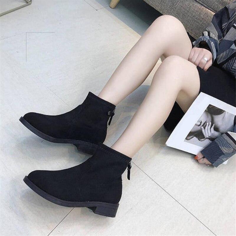 Bottes British Plat Hiver New Noir Style Femmes Cheville De a4wq5t