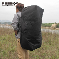 REEBOW TACTICAL Outdoor Travel Duffle Bag Men Big Capacity Picnic Camping 1000D Oxford Luggage Bag Military