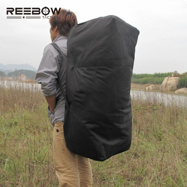 Reebow Tactical Outdoor Travel Duffle Bag Men Capacity Picnic Camping Backpack 1000d Oxford Trekking Sports
