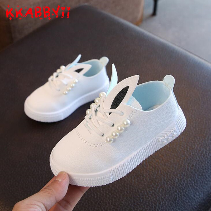 Toddler Baby Pearl Princess Shoes Girls White Sneakers Boys Sports Shoe Kids Children Causal Trainer Fashion Flat