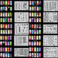 OPHIR 200 Дизайн Аэрограф Ногтей Трафарет 20 Листов Шаблонов Комплект Щетки Воздуха Краска Моды Наклейки Для Ногтей Ногти Tools_JFH11