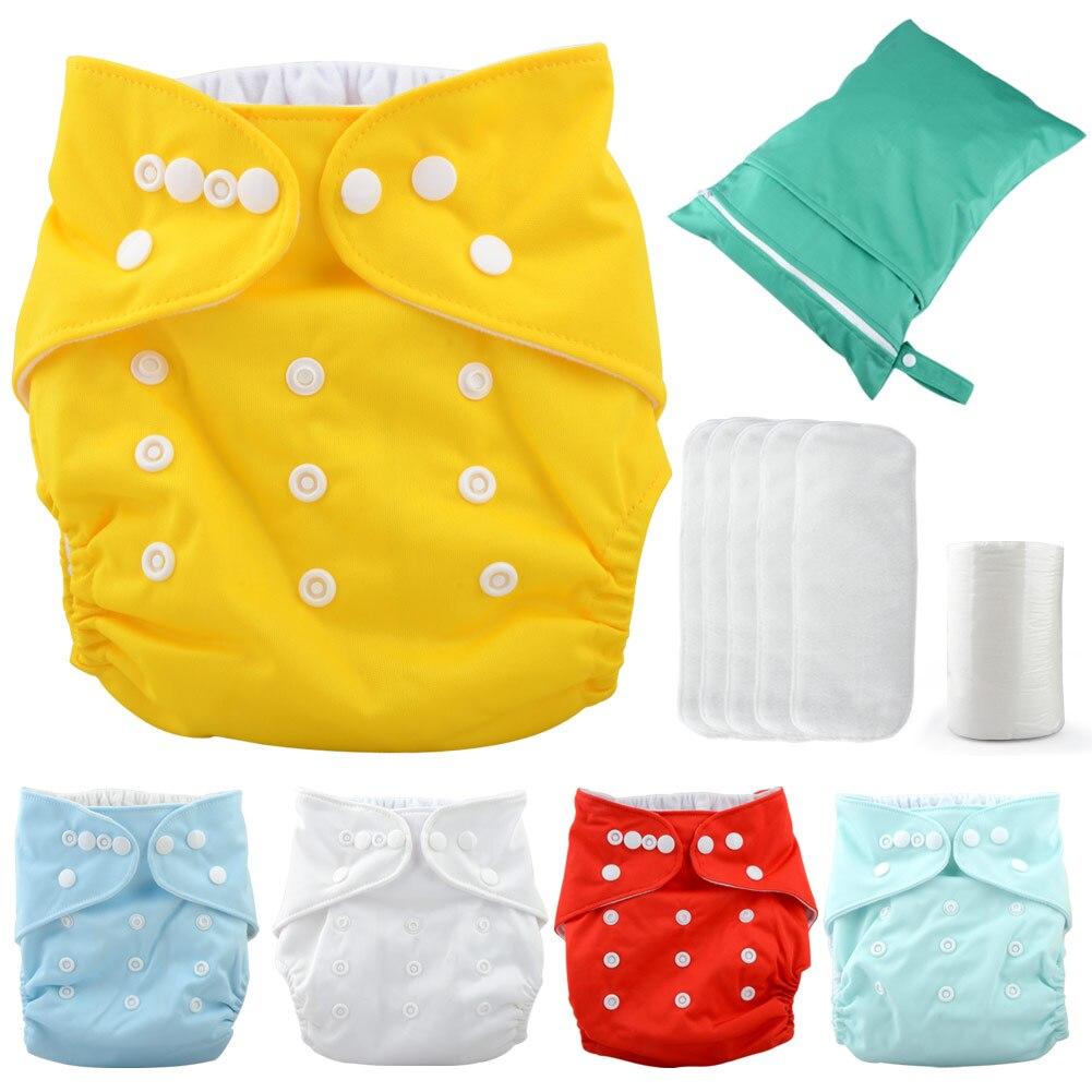 1 ensemble bébé couches respirant jetables couches bambou Fiber formation pantalon couche-culotte
