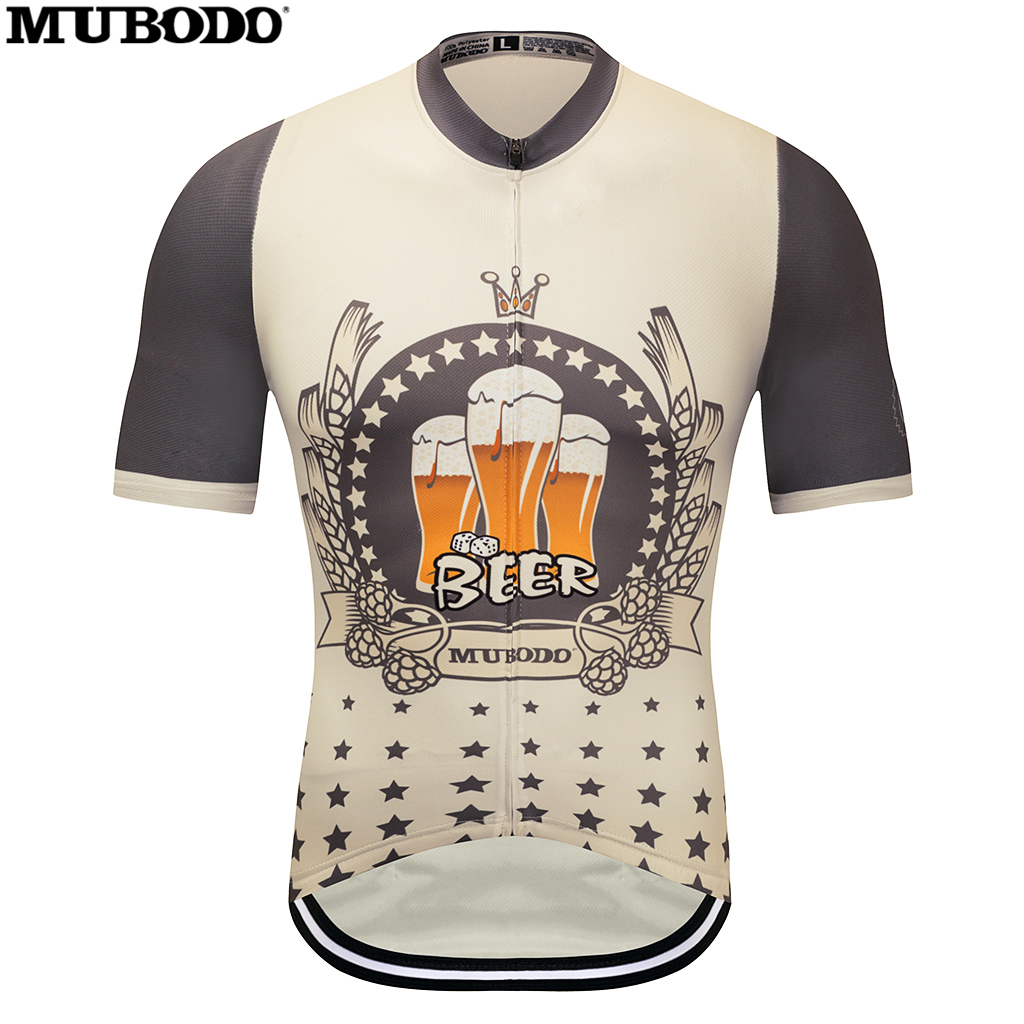 2018MUBODO BEER Man Summer Breathable Short sleeve Cycling Jersey Anti sweat Bicycle Jersey I LIKE BEER Quick-Dry MTB Clothing
