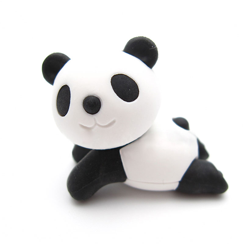 2 Pcs Cute Animal Panda Rubber Eraser Kawaii Creative Stationery School Supplies Papelaria Girl Gift For Kids Children's Toys