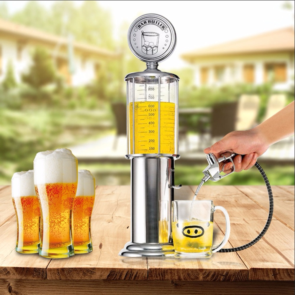 New Mini Beer Dispenser Machine Drinking Vessels Double Gun Pump with Transparent Layer Design Gas Station Bar for Drinking Wine цена