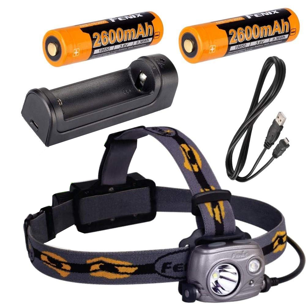 Fenix HP25R 1000 Lumen USB rechargeable CREE LED Headlamp, 2 X Fenix 18650 rechargeable Li-ion batteries,ARE-X1 charger стоимость