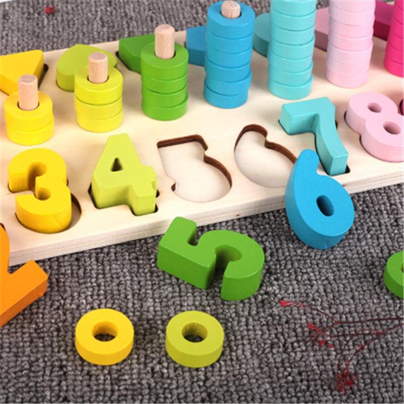Enfants éducatifs éducation précoce mathématiques Abacus arc-en-ciel cercle forme numérique trinité numérique forme Intelligence jouet
