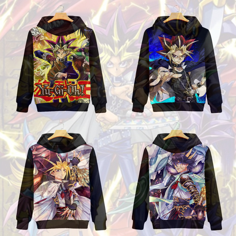 Duel Monsters Yugi Muto Cosplay Seto Kaiba Sweatshirts ATEM Cosplay Men Women fashion Cartoon printing brushed Hooded Jackets