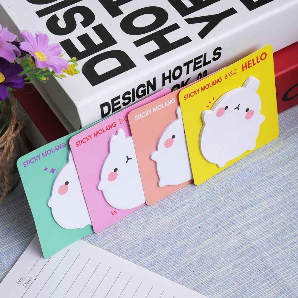 Dessin animé lapin pomme de terre Notes autocollantes mémo bloc-Notes autocollants papeterie Message étudiant cadeau école fournitures de bureau