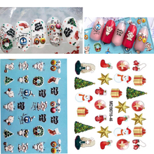 3D new arrived  Acrylic Engraved Nail Sticker Christmas style snowflake Water Decals Empaistic Slide Z0202