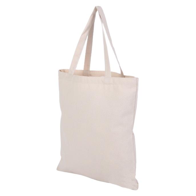 Beige Canvas Shopping Shoulder Top Tote Shopper Bag Case Envelope M