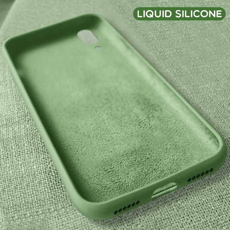 Luksusowe oryginalny ciekły silikonowy obudowa do Xiaomi mi 8 mi 9 SE mi 8 Lite oficjalna sprawa miękkie etui na Xiaomi mi 9 SE przypadku