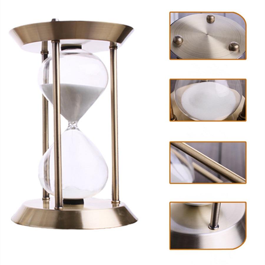 Valentýnské propagační kovové brýle Timer 30 minut Písek Přesýpací hodiny Valentýnské dárky Řemeslné domácí dekorace ampulheta