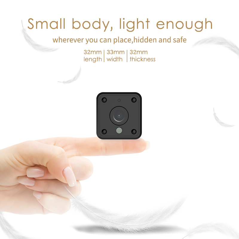 720P HD Action WIFI Mini Camera Night Vision Motion Detect Mini Camcorder Loop Video Recorder Built-in Battery Body Cam