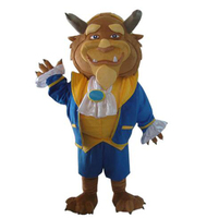 Mascot Costumes The Beauty and the Beast Costume the Beast Mascot Birthday High Quality Mascot Cosplay Costumes