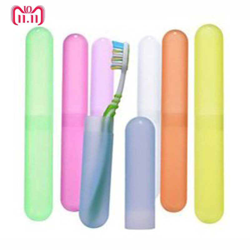 1PCS Random Color Cute Portable Toothbrush Holder Outdoor Travel Hiking Camping Toothrush Case Bathroom Accessories image