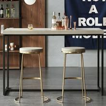 Скандинавский барный стул из кованого железа барный стул модный кофейный стул золотой высокий стул простой обеденной стул передний стул