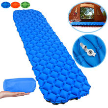 Nylon TPU Sleeping Pad Lightweight Moisture-proof Air Mattress Portable Inflatable Camping Mat Hiking