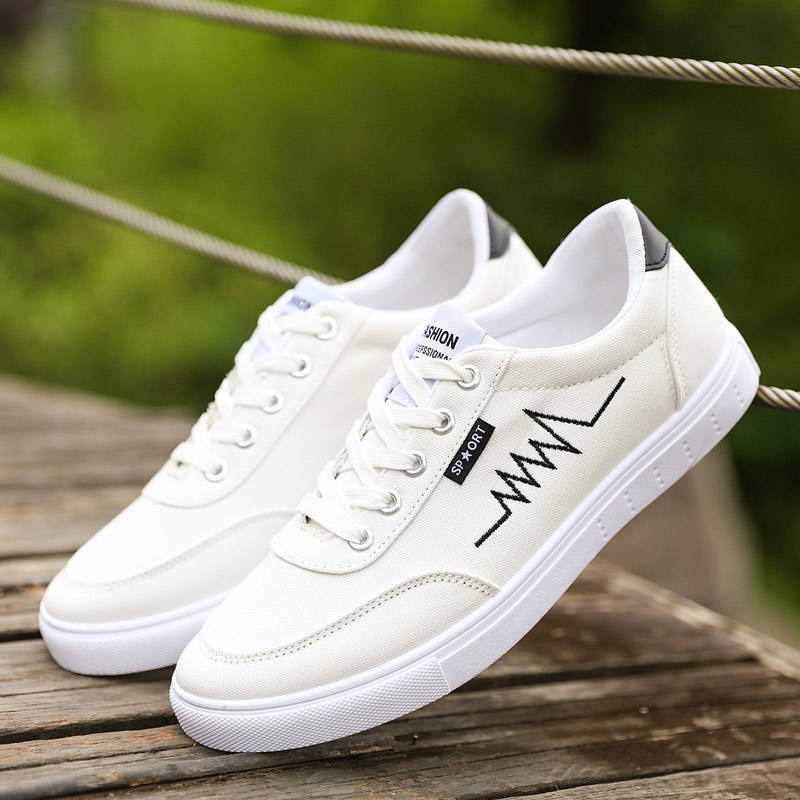 ФОТО New Design Men Casual Shoes Print Fashion Canvas Shoes Walking Zapatos Hombre Cool Chaussure Homme Trendy Men Flat Shoes H991