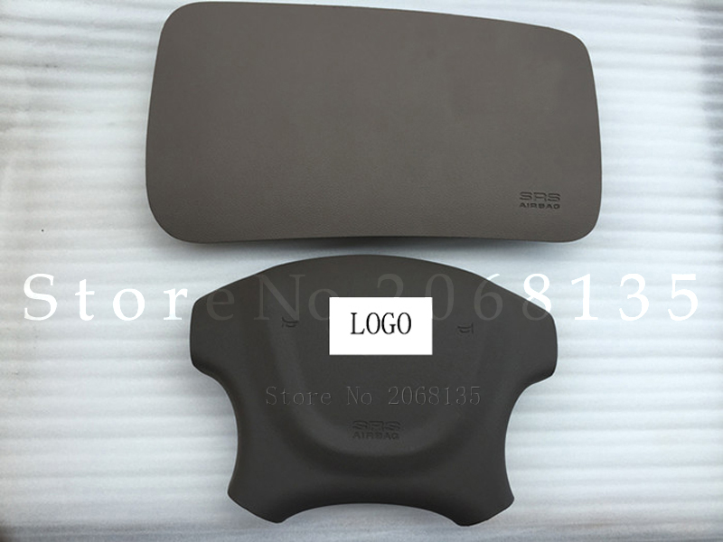 Passenger Airbag CoverCar Car Air Bag Cover For Kia Sportage SRS Steering Wheel Airbag Covers (With LOGO) Black & Brown Colour  high quality new driver side airbag cover for glk w204 glk300 glk350 airbag cover dab cover with logo