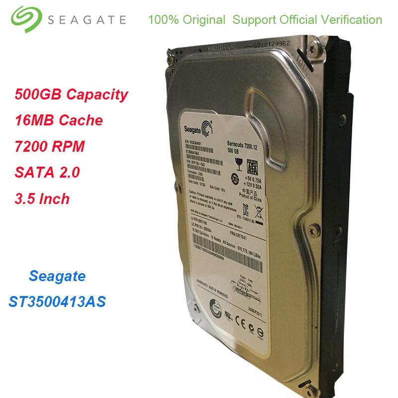 "ST500DM002 Tested 7200 RPM Lot of 10 Seagate 500GB 3.5/"" Desktop Hard Drives"