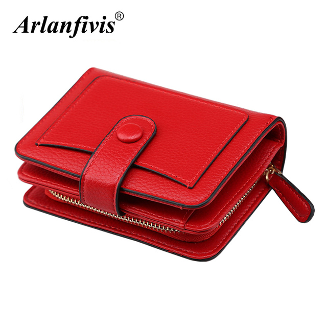 Large Capacity Fashion Women Wallet Short Purses Female Clutch PU Leather Credit card Holder Solid Zipper Bag
