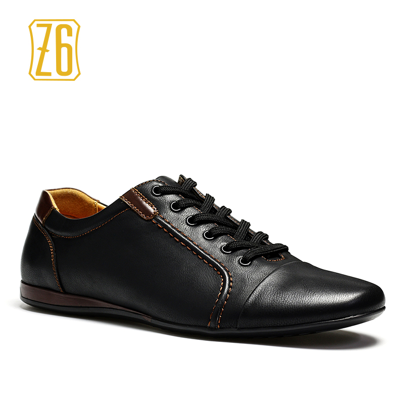 40-45 men flats Top quality comfortable handsome Z6 brand casual male shoes adult #W3096-1