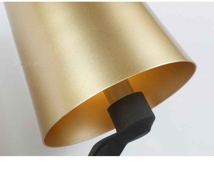 Lusso nordic lampada da parete oro paralume ferro art designer