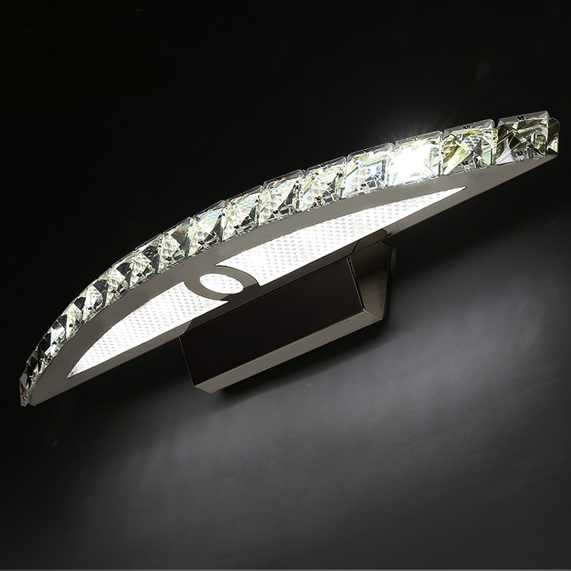 Minimalist bathroom vanity Mirror front light LED wall lamps modern table bedroom Fashion dresser lamp headlight crystal lamp ZH ishak mesic global trends in retail trade