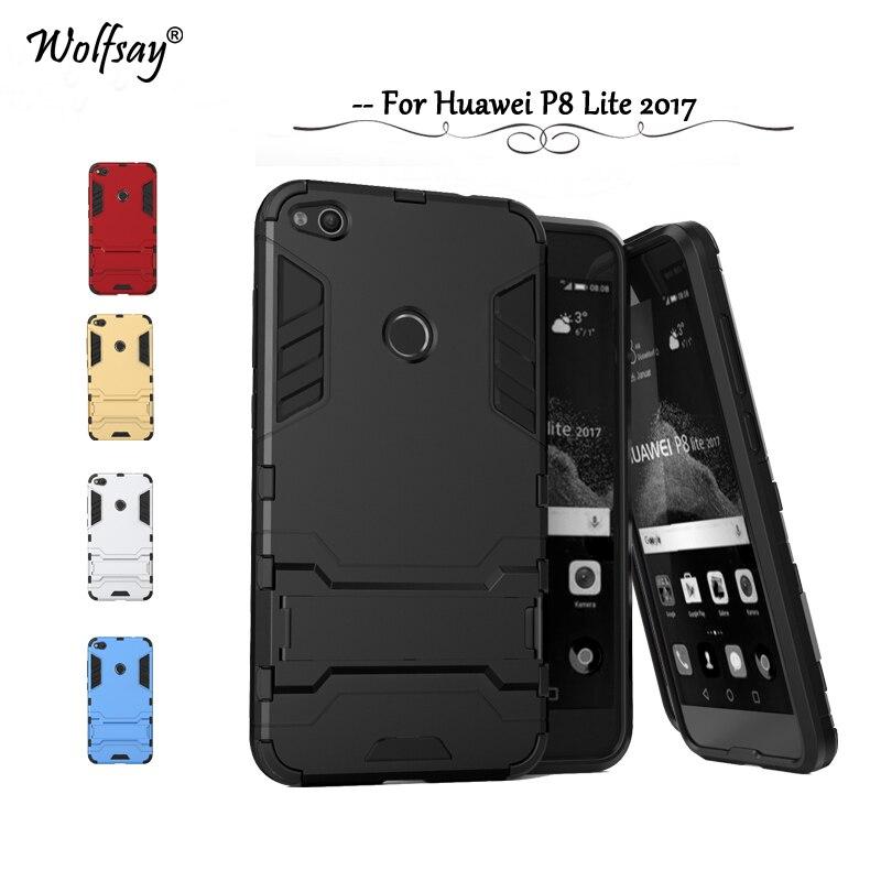 Para Huawei P8 Lite 2017 Funda a prueba de golpes Robot Funda de goma - Accesorios y repuestos para celulares - foto 1