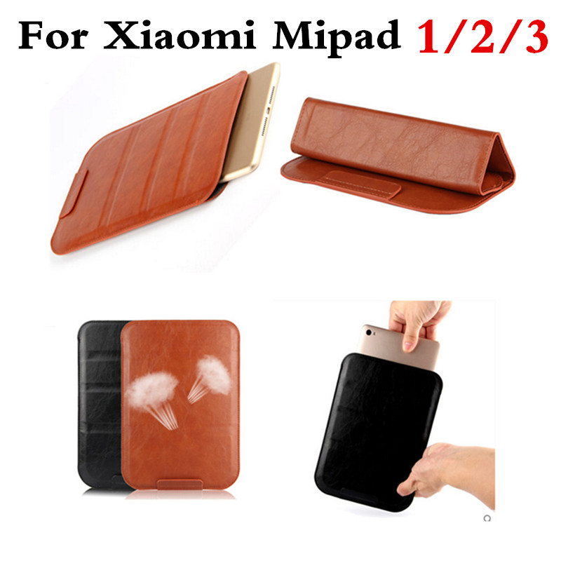 Luxury PU Leather Case Cover For Xiaomi Mi Pad 1 2 3 miPad 2 3 7.9 tablet PC SLeeve Pouch Bag Cases For MiPad3 Can Satnd Case
