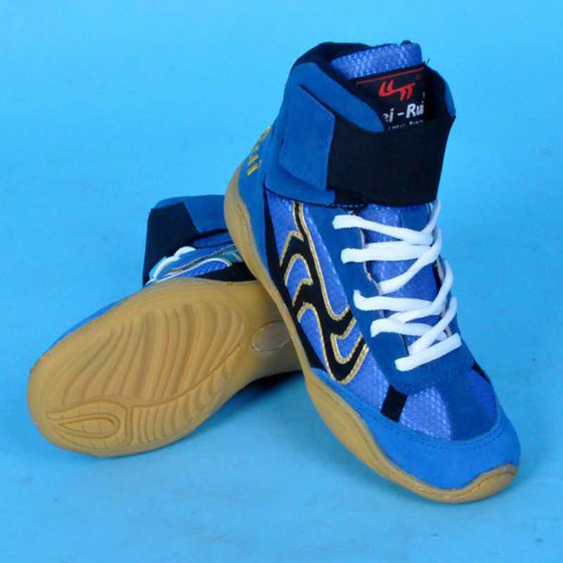 المهنية الملاكمة أحذية مصارعة المطاط تسولي تنفس الأحذية القتالية أحذية رياضية Scarpe Boxe أومو حجم 36-46 أحذية التايكوندو