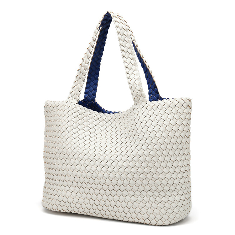 Ladies Handmade Knitting Handbag Criss Cross Woven Leather Bag Women String  Large Capacity Casual Tote Purse-in Top-Handle Bags from Luggage   Bags on  ... 23416e73ce871