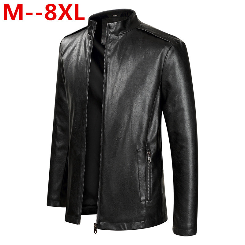 Plus size 8XL 7XL 6XL 5XL New Arrival Leather Jackets Men Outwear Solid Casual Men's Coats Autumn & Winter Homme PU Jacket men plus size 4xl 5xl 6xl 7xl 8xl 9xl winter pant sport fleece lined softshell warm outdoor climbing snow soft shell pant
