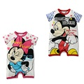 Mickey Baby Rompers 2017 Summer Short Baby Clothes Girl Jumpsuits 100% Cotton Cartoon Donald Bebe Roupas 80 90 95