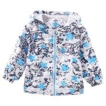 New Autumn Baby Boys Jackets Coats Cartoon Graffiti Hooded Windbreaker For Toddler Girls Boys Kids Jacket